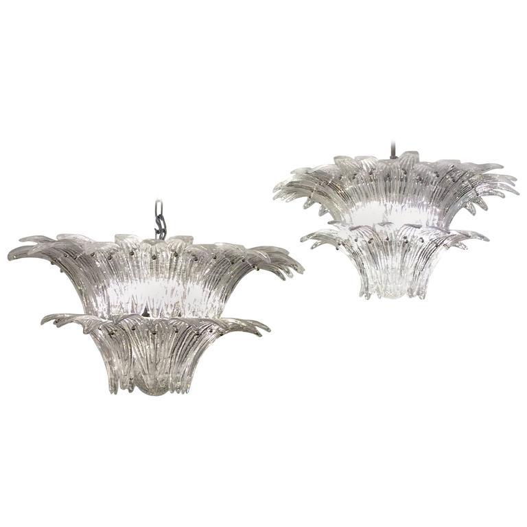Pair of venetian chandeliers palm tree murano glass chandeliers pair of venetian chandeliers palm tree murano glass chandeliers 1970 aloadofball Choice Image