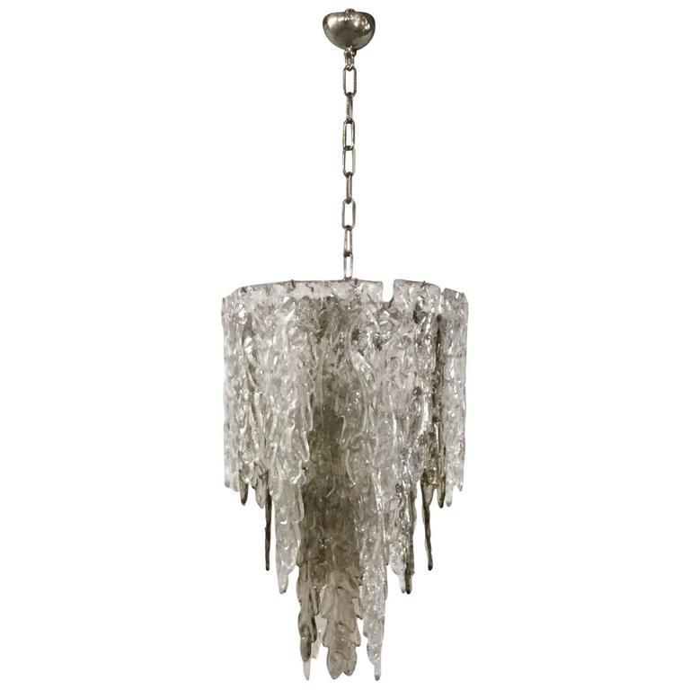 Stunning 1970s mazzega murano glass icicle chandelier sambataro stunning 1970s mazzega murano glass icicle chandelier aloadofball Image collections