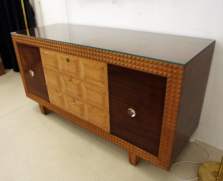 e01e52bbac769 Italian Art Deco Buffet Credenza Attributed to Osvaldo Borsani